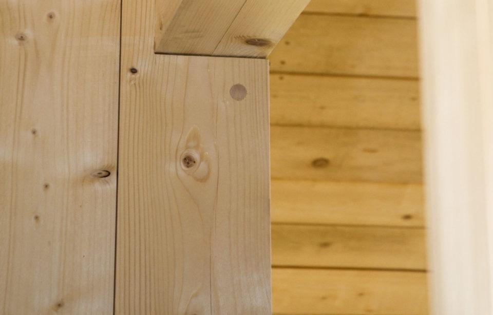 Pures Holz ohne jegliche Zusätze