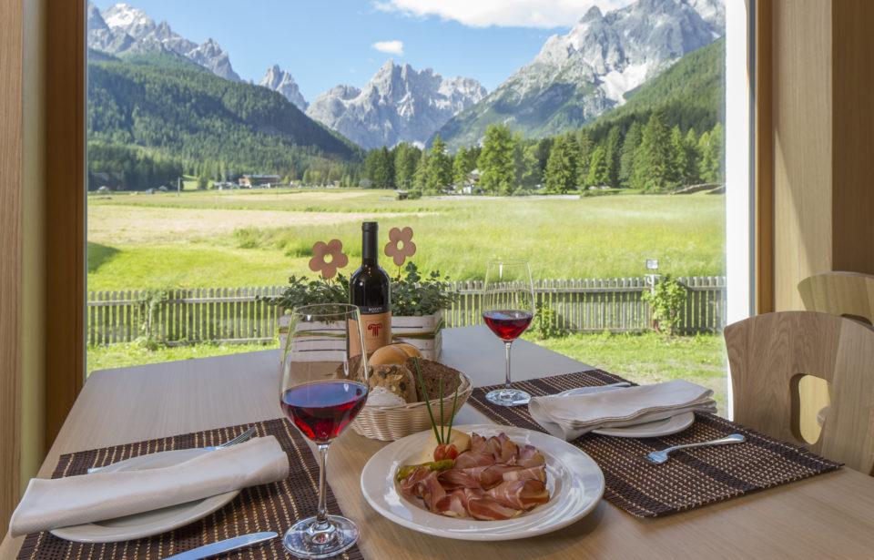 Ausblick vom Speisesaal des Hotels Schönblick