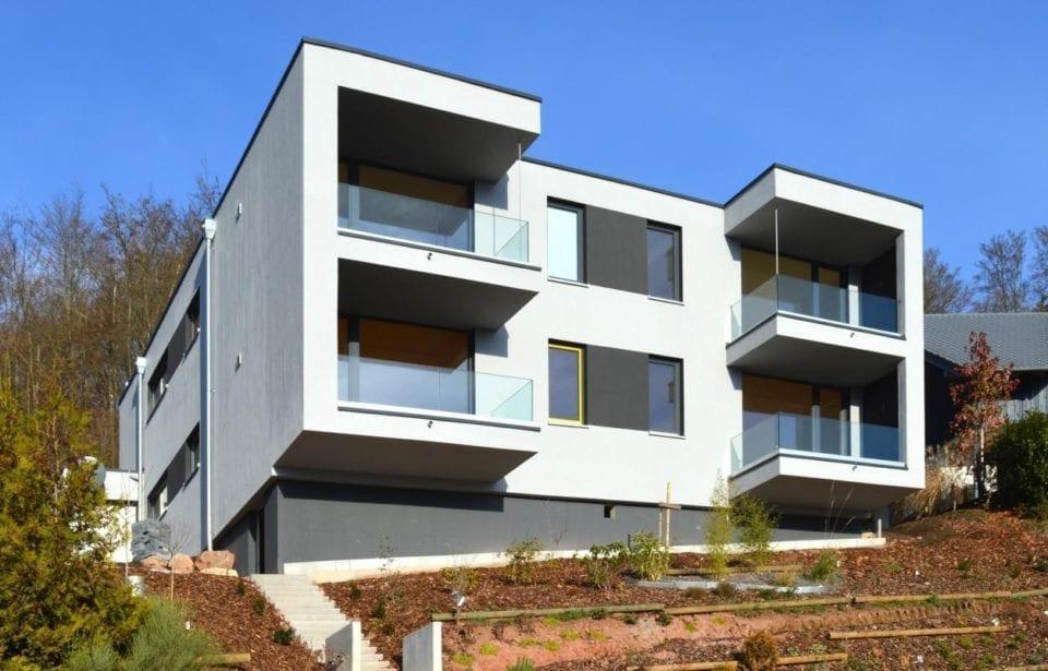 Ansicht Büro und Mehrfamilienhaus Bad Brückenau - Beitragsbild