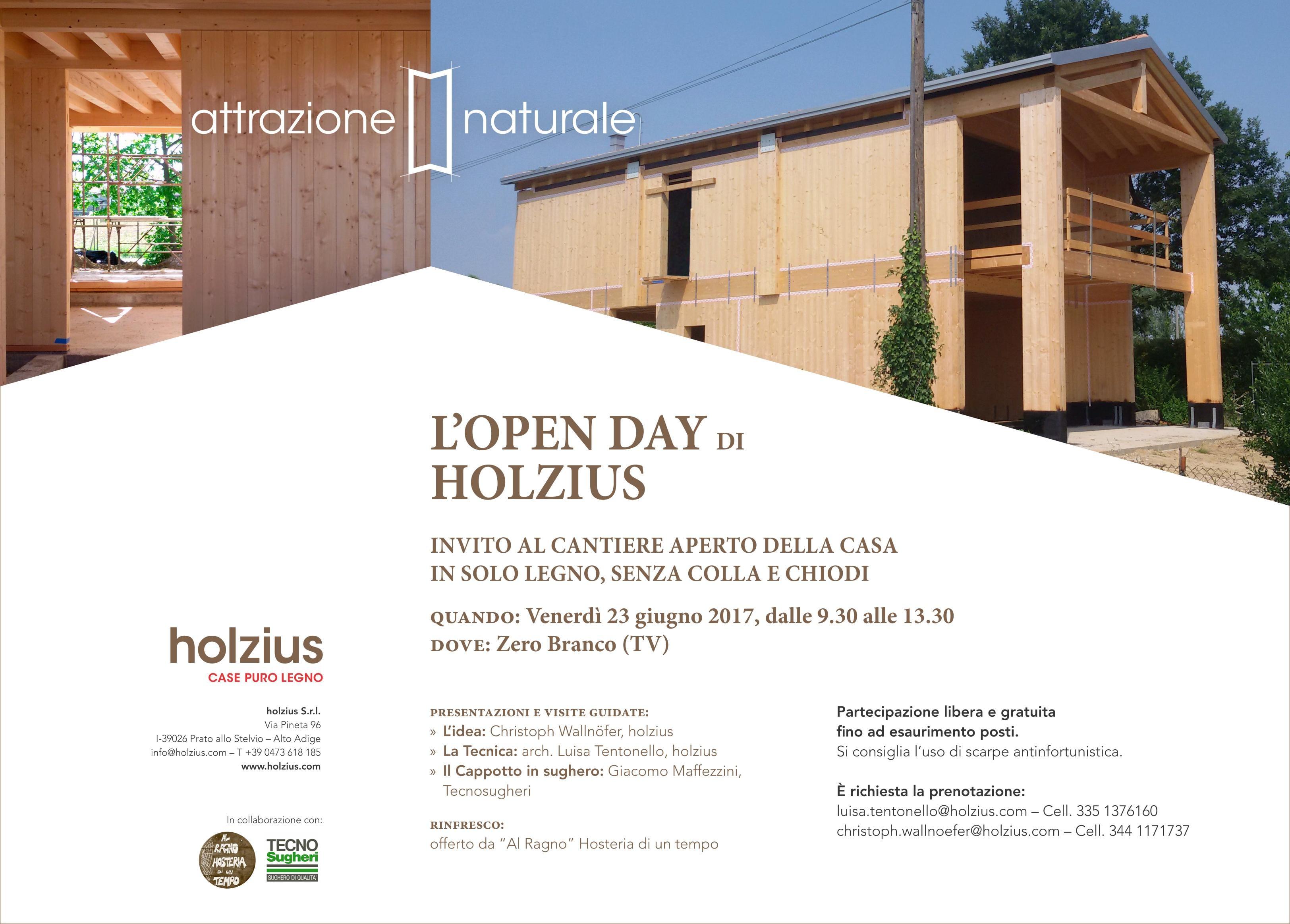 Invito cantiere aperto case puro legno holzius - 23 giugno 2017