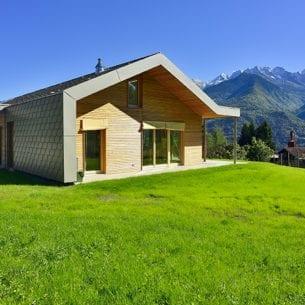 Casa in legno massiccio naturale - costruzione bioedile
