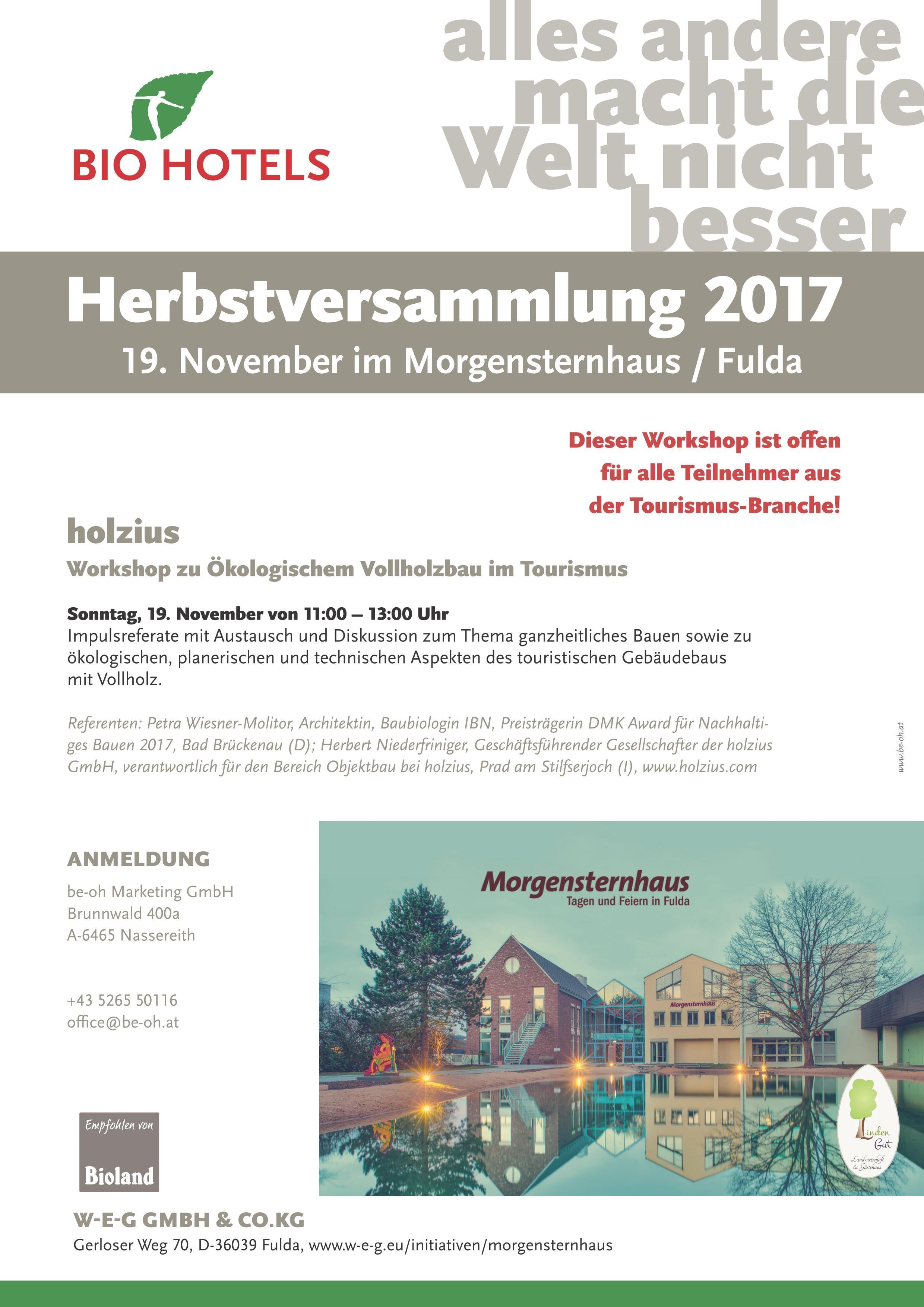 holzius Workshop Ökologischer Vollholzbau im Tourismus