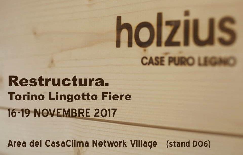 Costruire in legno massiccio puro - holzius al CasaClima Network Village a Restructura 2017